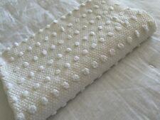 Vintage Chenille Bedspread Fabric Morgan Jones Rare Pops Woven Dot White Euc