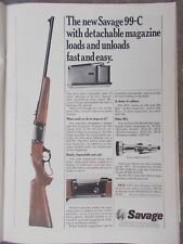 Vin. 1968 ad #1 for Savage 99-C rifle, hunting, sports