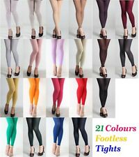 20 Colour Women's 80 Denier Opaque Pantyhose Stockings Hosiery Foot Tights 80d Violet