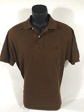 POLO RALPH LAUREN mens S/S 100% Cotton Brown Polo Shirt sz L EUC