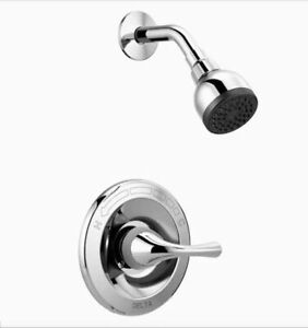 Delta B112915C Foundations 1 Handle Shower Only Trim, Valve Included, Chrome