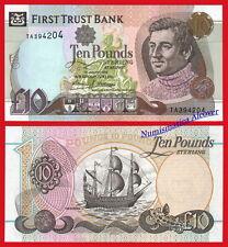 NORTHERN IRELAND IRLANDA FIRST TRUST BANK 10 Pounds 1998 Pick 136a SC / UNC