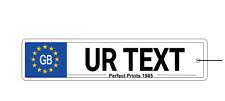 Personalised GB Custom Number Plate Car Air Freshener