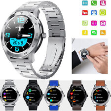 Bluetooth Smart Watch Heart Rate Monitor Pedometer For Men Women Boy Android iOS