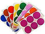 Coloured round A4 Self Adhesive labels white red, blue, green or yellow 88mm Dia