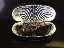 Authentic Roberto Cavalli Black Wrap Around w/ Animal Print Interior Sunglasses