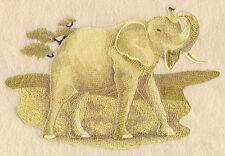 Embroidered Fleece Jacket - Sepia Safari Elephant E4298 Sizes S - XXL
