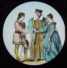 COLOUR Glass Magic Lantern Slide DICK WHITTINGTON NO8 C1890 VICTORIAN DRAWING