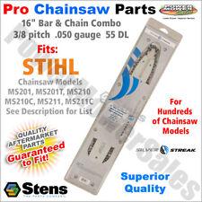 "16"" Bar & Chain Stihl Chainsaws MS201, MS201T, MS210, MS210C, MS211, MS211C"