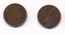 Niederlande  2 1/2 Cent  1884