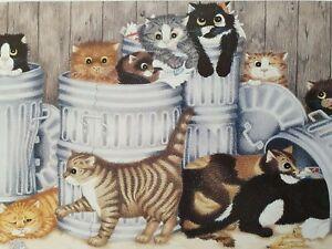 LINDA JANE SMITH Kittens Katzen 1987 The O'Malleys  Lithograph Signiert NEU