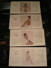4 Shaw Wallace Calendar Cards from India 1974