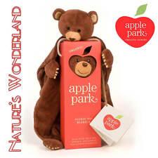 CUBBY BEAR BLANKIE in Box 100% Organic Cotton & Silk nose -Picnic Pal Apple Park