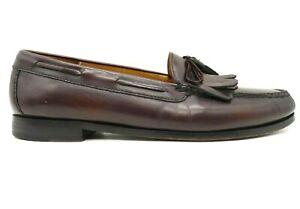 Cole Haan Burgundy Leather Kilt Slip On Dress Loafers Shoes Men's 12 D