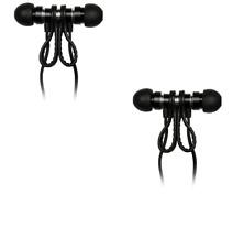 BUNDLE OF 2 PAIRS!! Meters M-EAR-Black In-Ear Headphones with Case