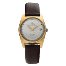 Vintage Marvin Flying Dutchman Two Tone 34mm Leather Automatic Men's Watch