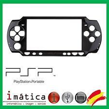 CARCASA FRONTAL PARA SONY PSP 2000 2004 FRONT SLIM FINA NEGRO BLACK PANTALLA