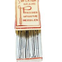 Vintage Advertising Box Superior Chrome Sewing Needles Pressed Groove Belgium
