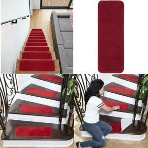 Ottomanson Sst Stair Streads, 7-Pack, Red, 7 Count