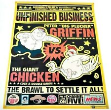 Family Guy Unfinished Business Peter Griffin Giant Chicken Wrestling Poster 2007
