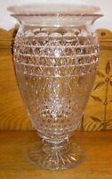 "Lovely Antique American Brilliant Cut Glass Vase - 10"""