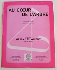 Partition sheet music GRAEME ALLWRIGHT : Au Coeur de l'Arbre * 70's
