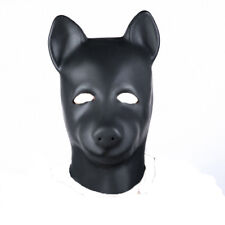 Unisex Latex with Zipper Closure and Eyes open Dog Hood