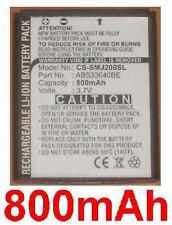 Batterie 800mAh Pour Samsung SGH-J200 P/N: AB533640BE