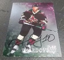1998-99 ITG BE A PLAYER OLEG TVERDOVSKY ON CARD AUTO 1