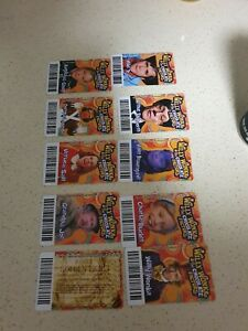 Willy Wonka Timezone 4 x Full Set Including rare Golden Tickets!!