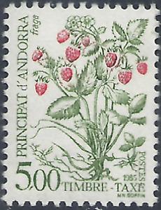 French Andorra #YTTT62 MNH CV€2.75 1985 Flowers Strawberries Postage Due [J62]