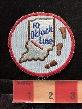 Vintage 10 O'Clock Line Indiana Patch 84YI