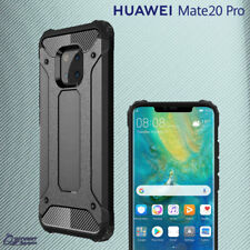 Black Tough Armor Heavy Duty Hybrid ShockProof Case Cover For Huawei Mate 20 Pro