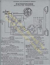 1939 desoto s-6 , 6 cyl  car wiring diagram electric system specs 1658