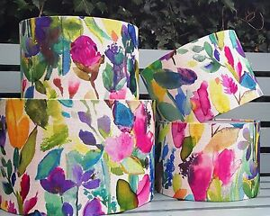 Handmade Bluebellgray PETITE MODE fabric pink floral drum lampshade all sizes