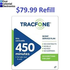 TracFone $79.99 Refill -- 450 Minutes/90 Days. Fast & Right