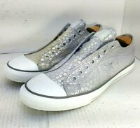 Converse One-Star Slip-On Low Top Silver, Gray Women's Size 11