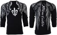 XTREME COUTURE by AFFLICTION Mens LONG SLEEVE T-Shirt AEROSMITH Wings UFC $58