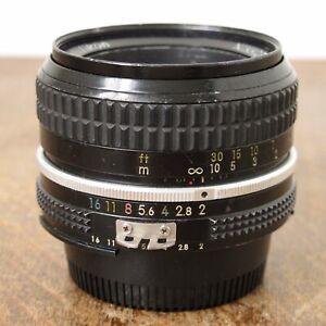 Nikon 50mm f/2 Ai Nikkor Manual Focus Standard Prime Lens