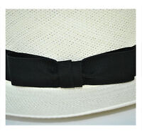 Olney Men's Folding Panama Straw Hat, Black Ribbon Band & Travel Tube SM68