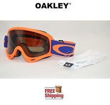 OAKLEY® O-FRAME® GOGGLES MX ATV MOTOCROSS MOTORCYCLE CHECKED ORANGE W/ TINT LENS