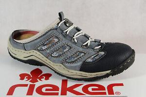 Rieker Women Clogs Sabot Slippers House Shoes Blue L0555 New