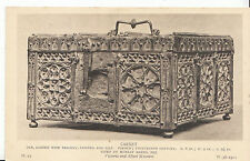 Museum Postcard - Casket - Oak - Carved with Tracery - French - 14th C   ZZ2570