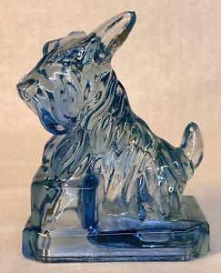 Boyd Art Glass Cobaline JB Scottie Dog # 58 Made 1-30-2004 GLOWS