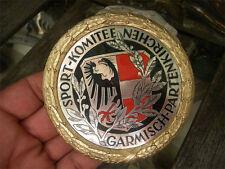 SPORT-KOMITEE GARMISCH-PARTENKIRCHEN - alte, schwere emaillierte Plakette Badge
