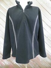 Coldwater Creek Jacket Fleece Pull Over Women's Black Size L