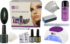 CCO UV LED BLACKPOOL Nail Gel Polish Varnish Starter Kit Choice of Lamp FREE P&P