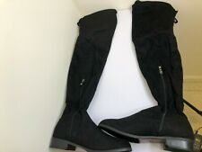 rouge black suede womens size 7.5