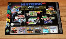 N64 Nintendo 64 Ad Flyer Mini Poster Banjo-Kazooie Donkey Kong Land 3 Bomberman