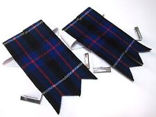 DUNCAN Kilt Hose Garter Flashes for Men NEW - FREE SHIPPING !